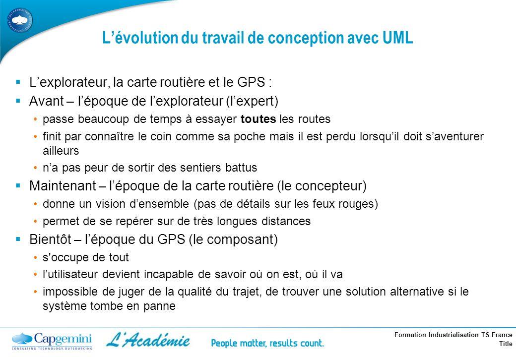 L'évolution du travail de conception avec UML