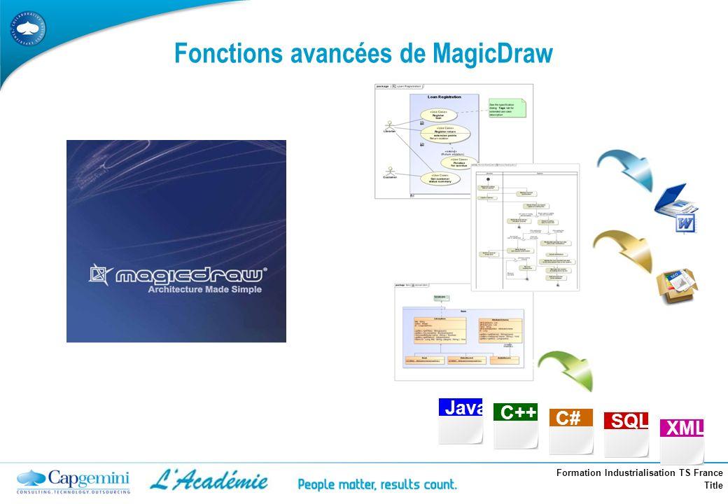 Fonctions avancées de MagicDraw