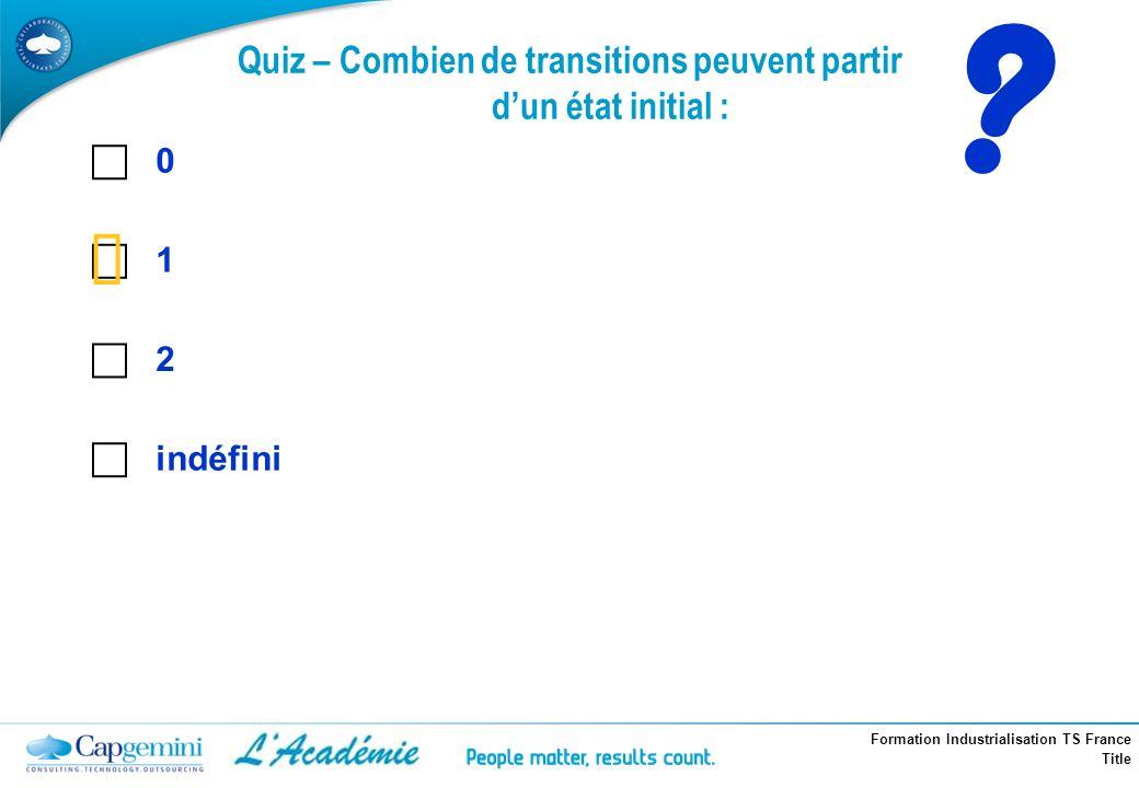 Quiz – Combien de transitions peuvent partir d'un état initial :
