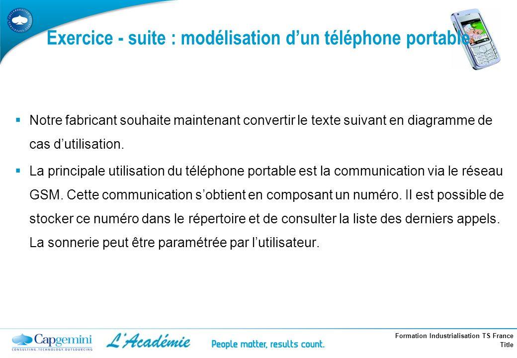 Exercice - suite : modélisation d'un téléphone portable