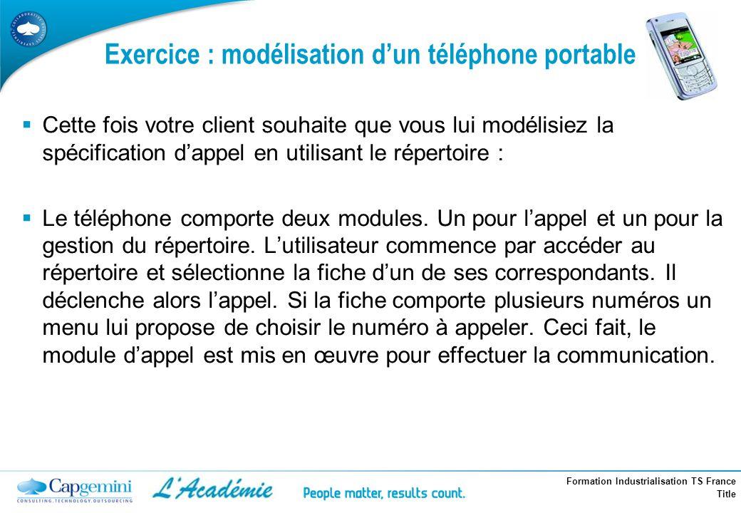 Exercice : modélisation d'un téléphone portable