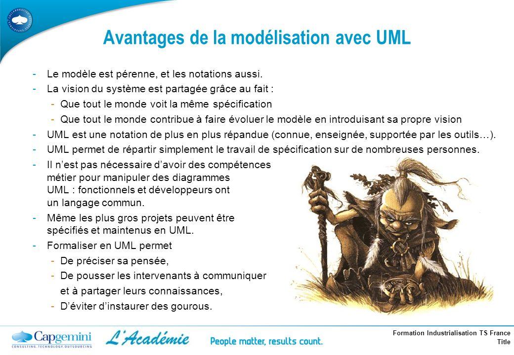 Avantages de la modélisation avec UML