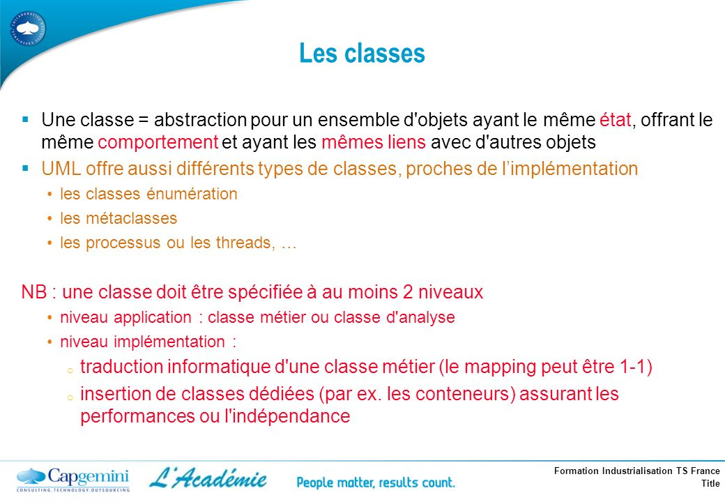 Les classes