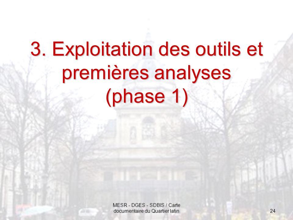 3. Exploitation des outils et premières analyses (phase 1)