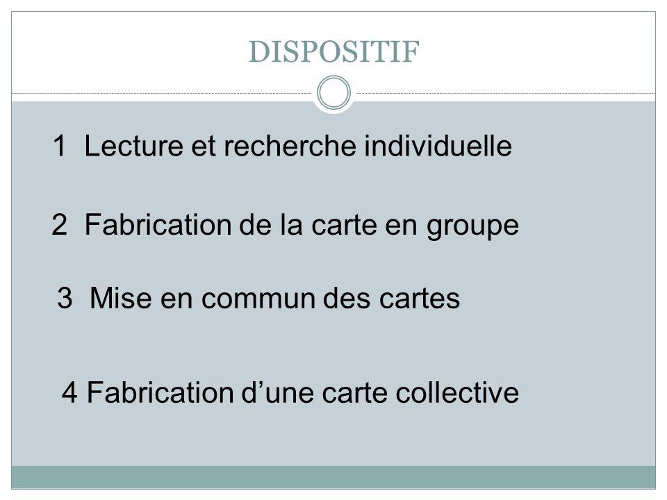 DISPOSITIF 1 Lecture et recherche individuelle