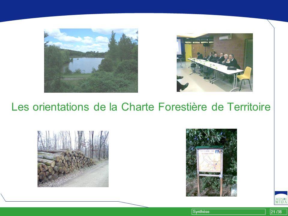 Les orientations de la Charte Forestière de Territoire
