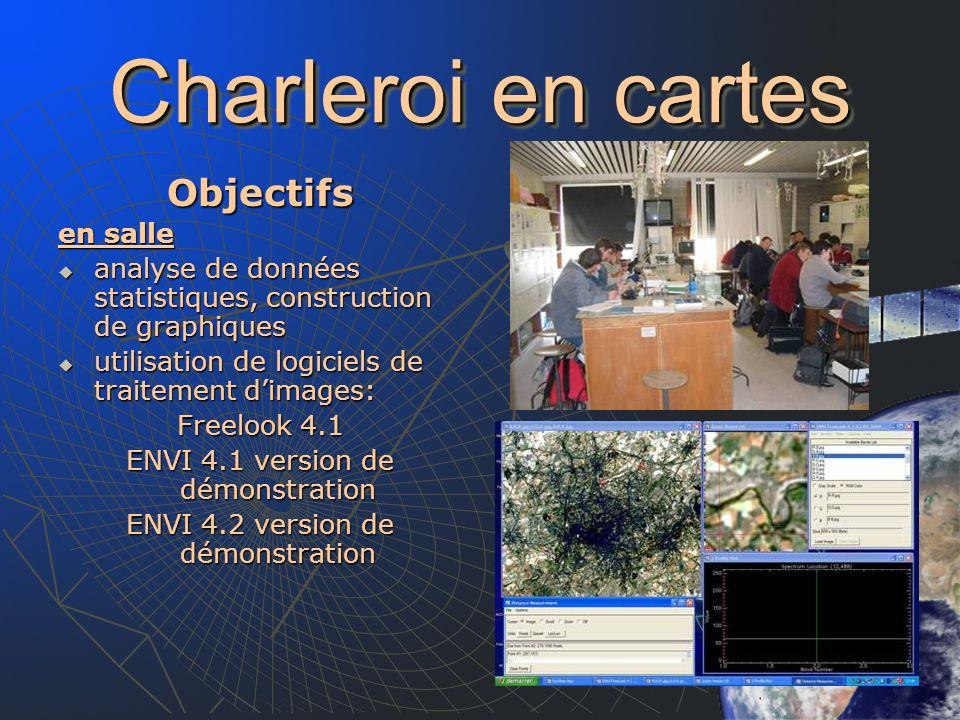 Charleroi en cartes Objectifs en salle