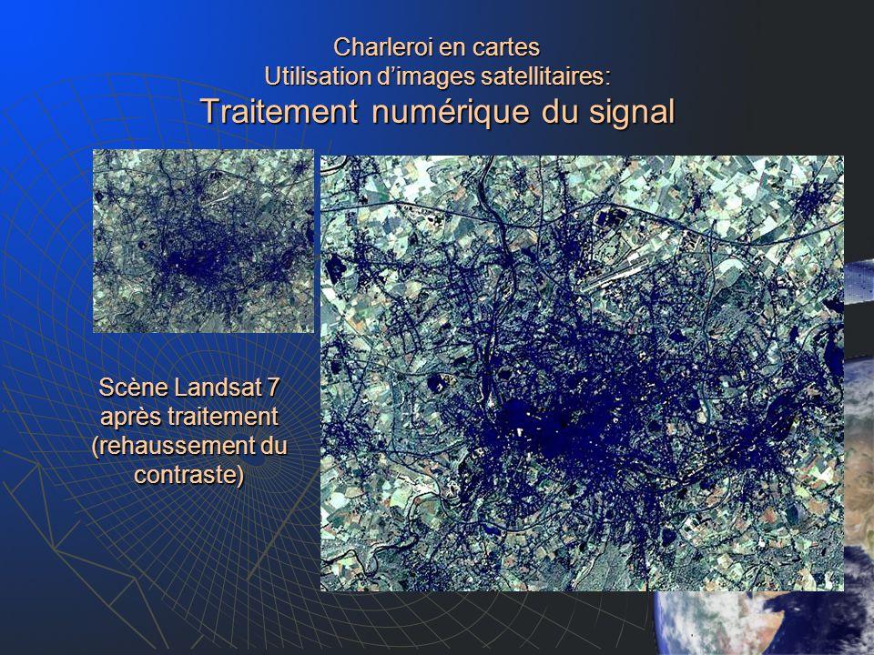 Scène Landsat 7 après traitement (rehaussement du contraste)