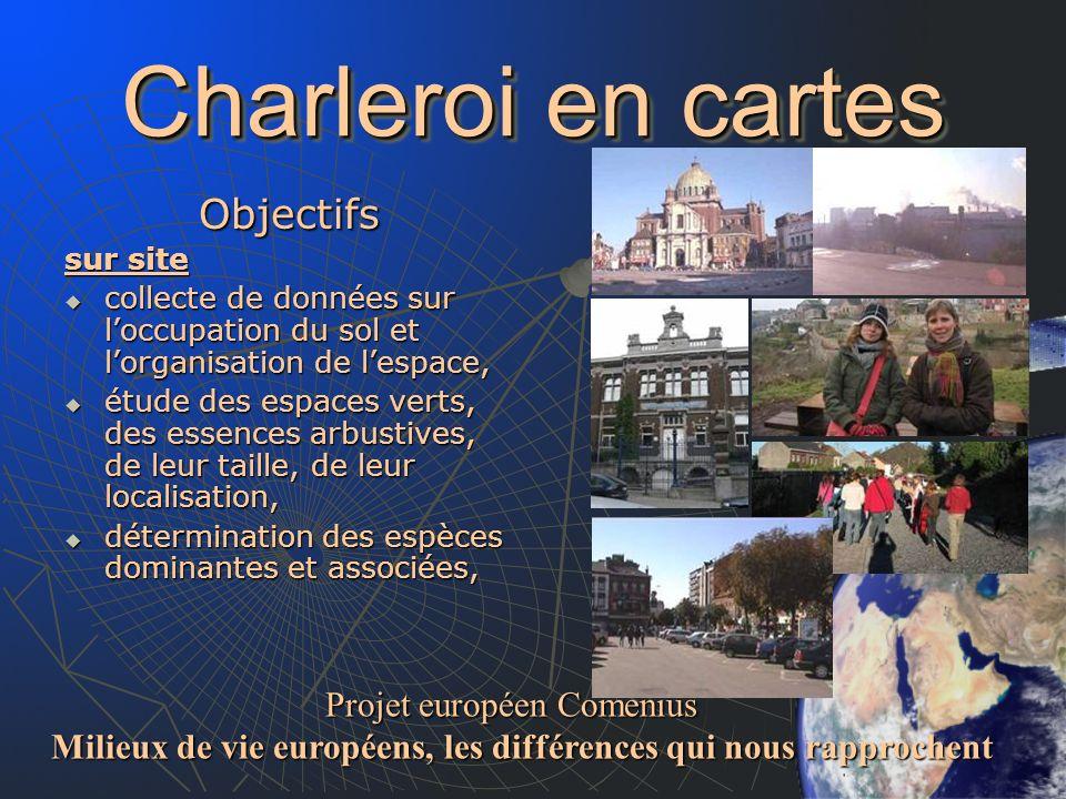Charleroi en cartes Objectifs