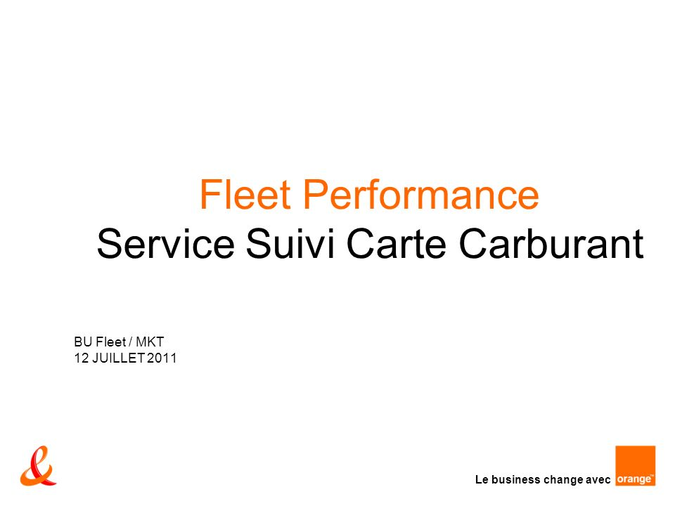 Fleet Performance Service Suivi Carte Carburant