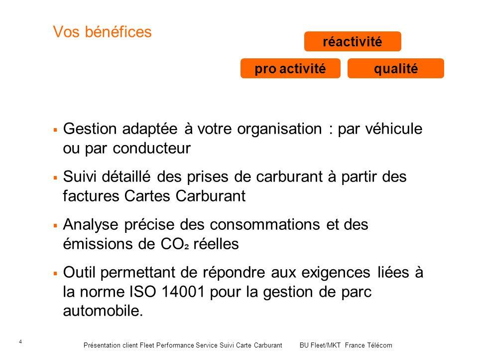 Gestion adaptée à votre organisation : par véhicule ou par conducteur