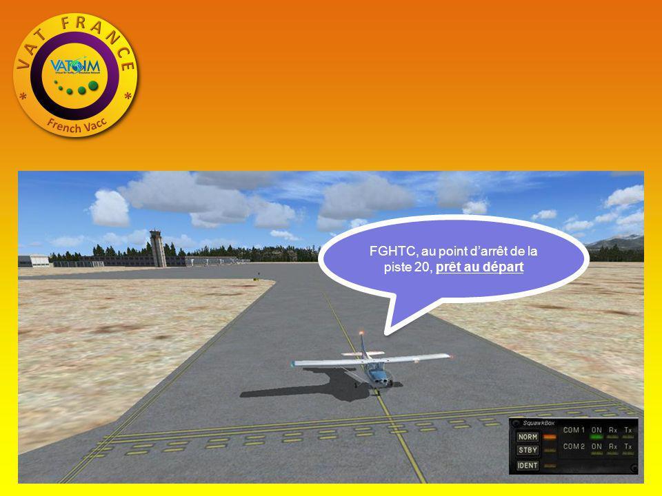 FGHTC, au point d'arrêt de la piste 20, prêt au départ