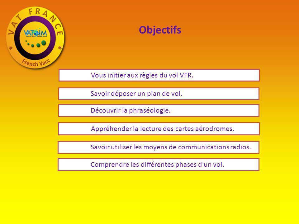Objectifs Vous initier aux règles du vol VFR.