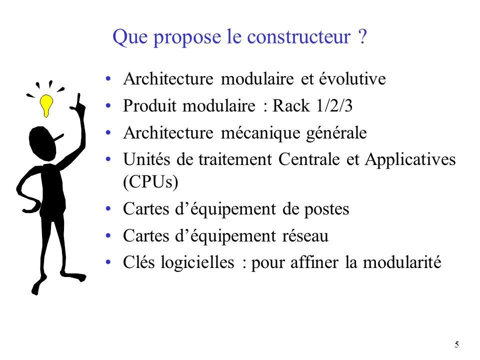Que propose le constructeur