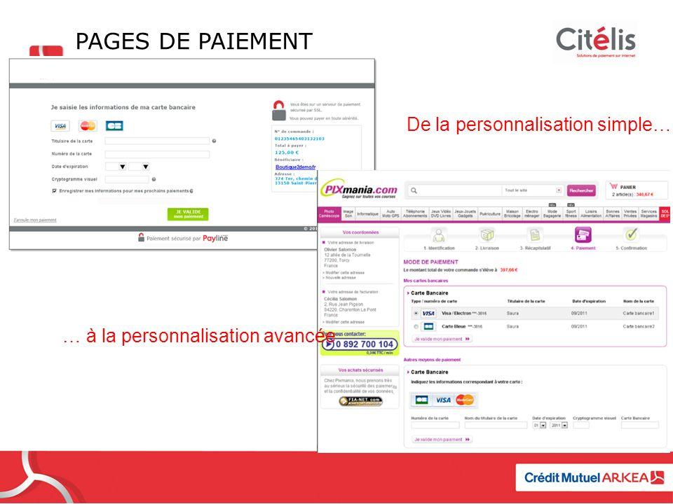Pages de paiement De la personnalisation simple….