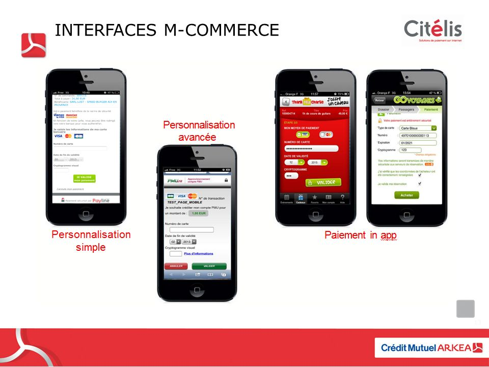 Interfaces M-commerce