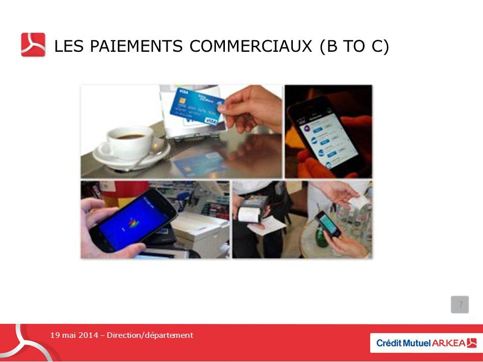 Les paiements commerciaux (b to c)