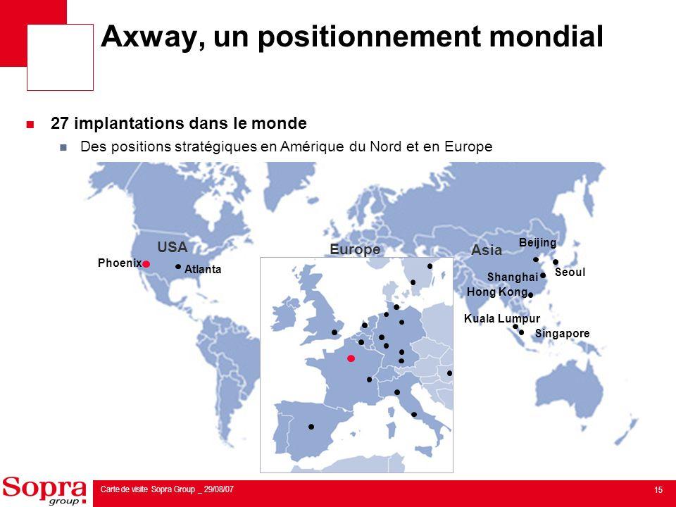 Axway, un positionnement mondial