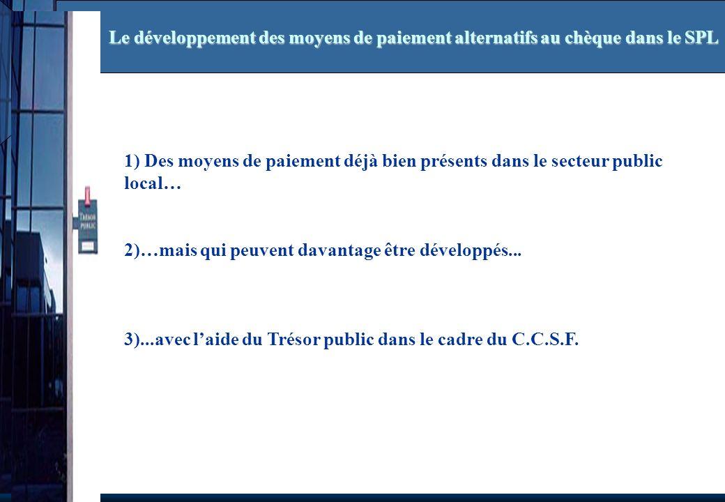 Le développement des moyens de paiement alternatifs au chèque dans le SPL