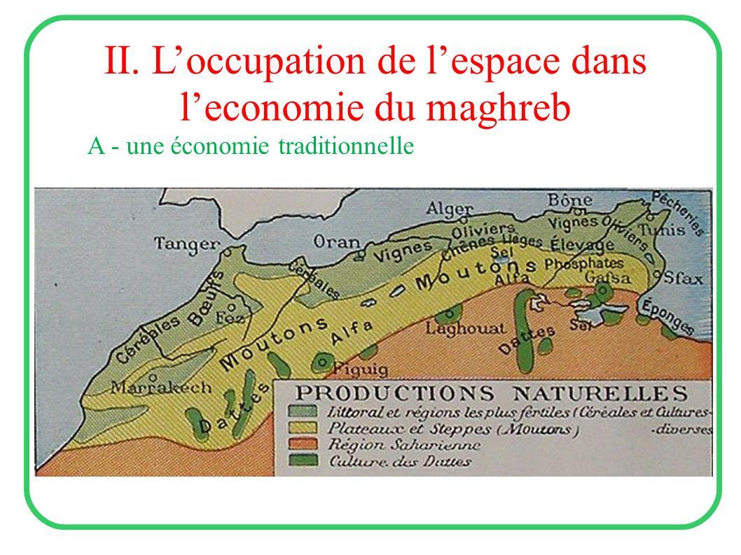II. L'occupation de l'espace dans l'economie du maghreb