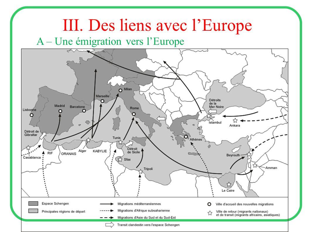 III. Des liens avec l'Europe