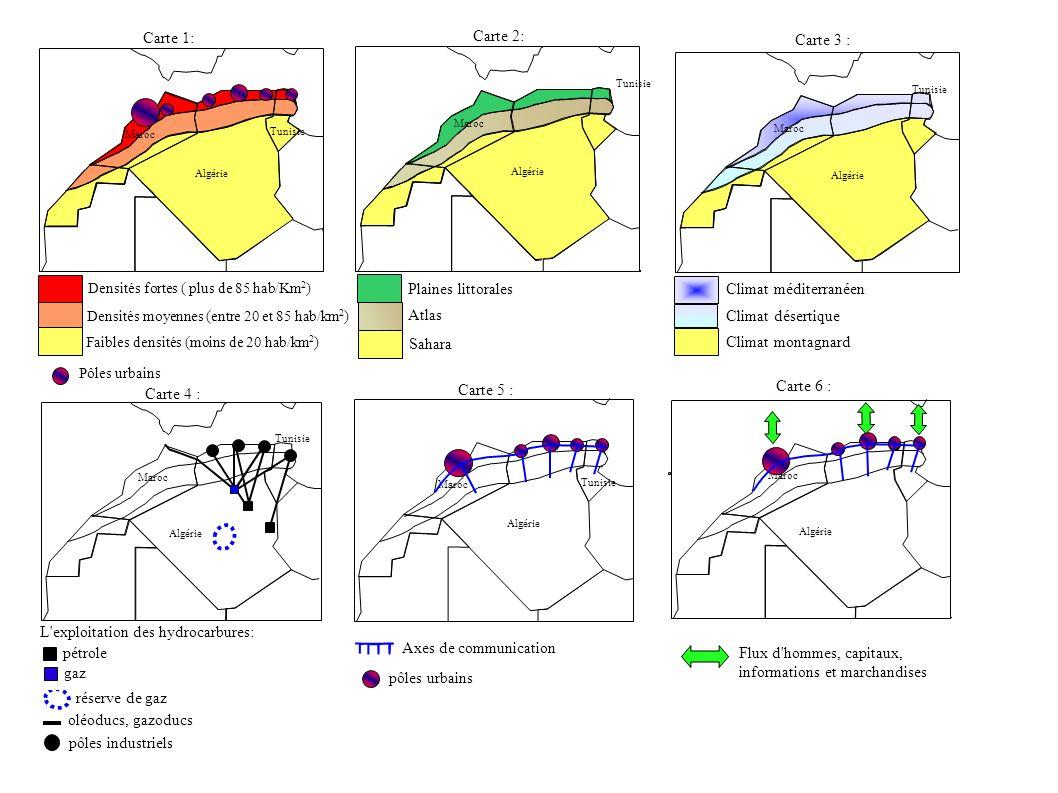 L exploitation des hydrocarbures: pétrole Axes de communication