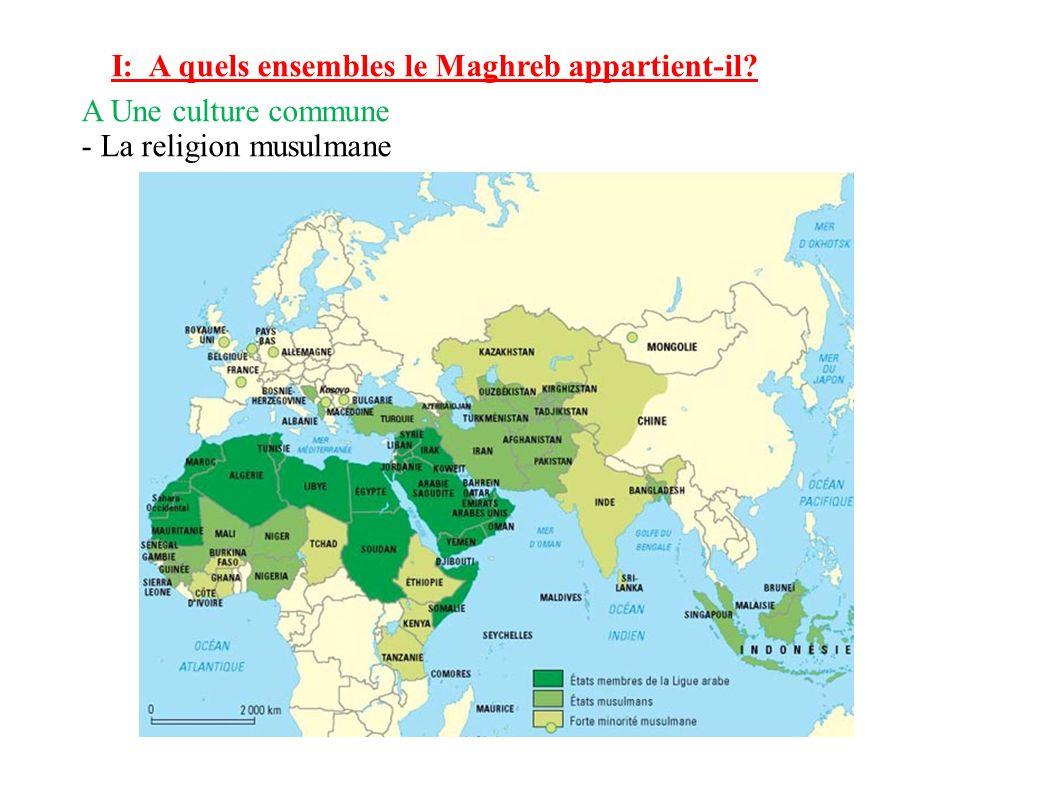 I: A quels ensembles le Maghreb appartient-il