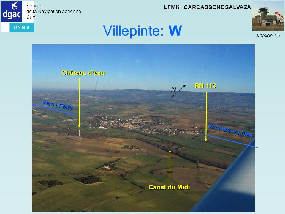 Villepinte: W N Château d'eau RN 113 Canal du Midi Vers LFMW