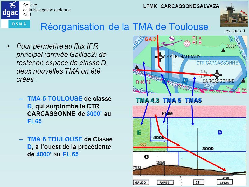 Réorganisation de la TMA de Toulouse