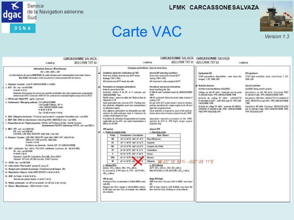 Carte VAC W 43° 16' 56 N - 002° 05' 11 E