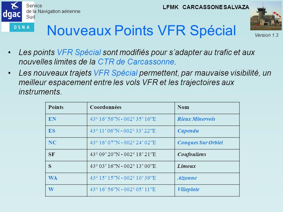 Nouveaux Points VFR Spécial