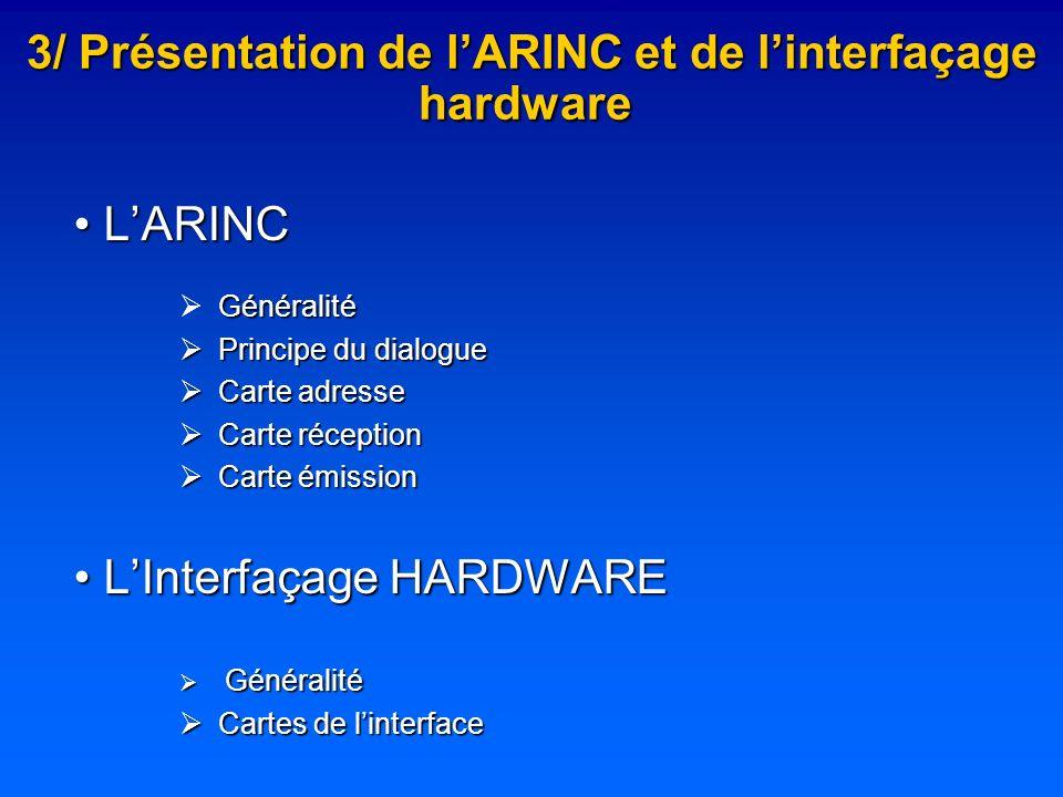3/ Présentation de l'ARINC et de l'interfaçage hardware