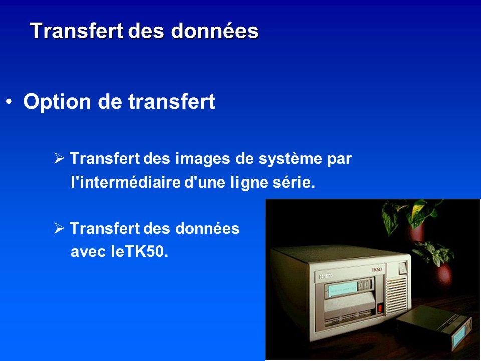 Transfert des données Option de transfert