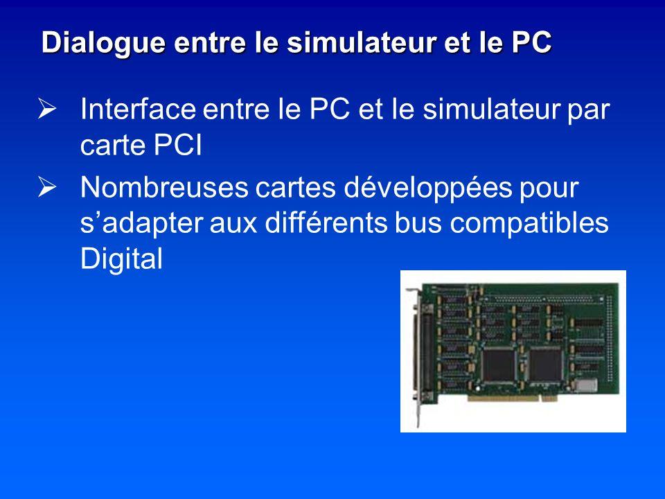 Dialogue entre le simulateur et le PC