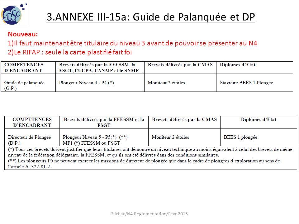 3.ANNEXE III-15a: Guide de Palanquée et DP