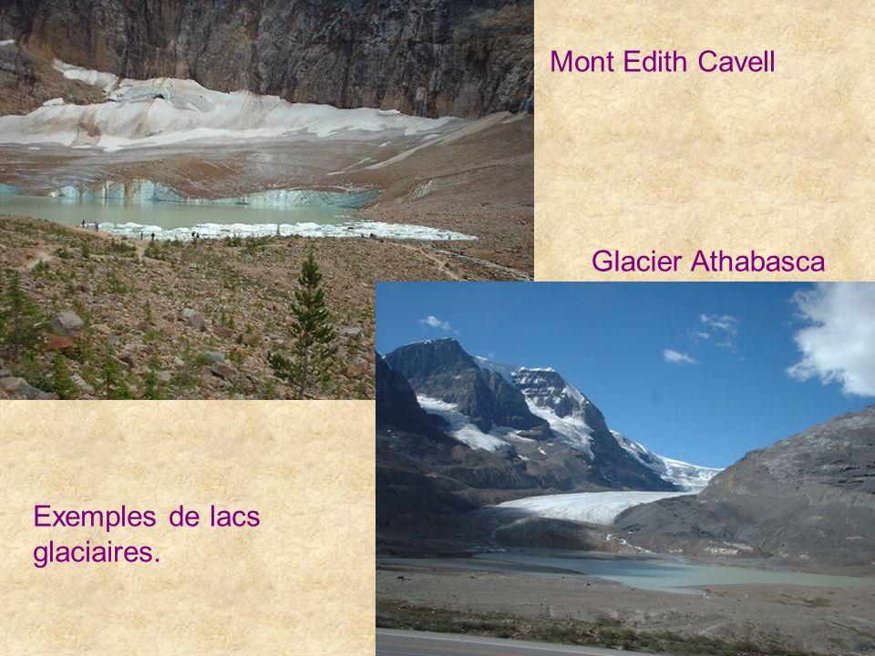Mont Edith Cavell Glacier Athabasca Exemples de lacs glaciaires.