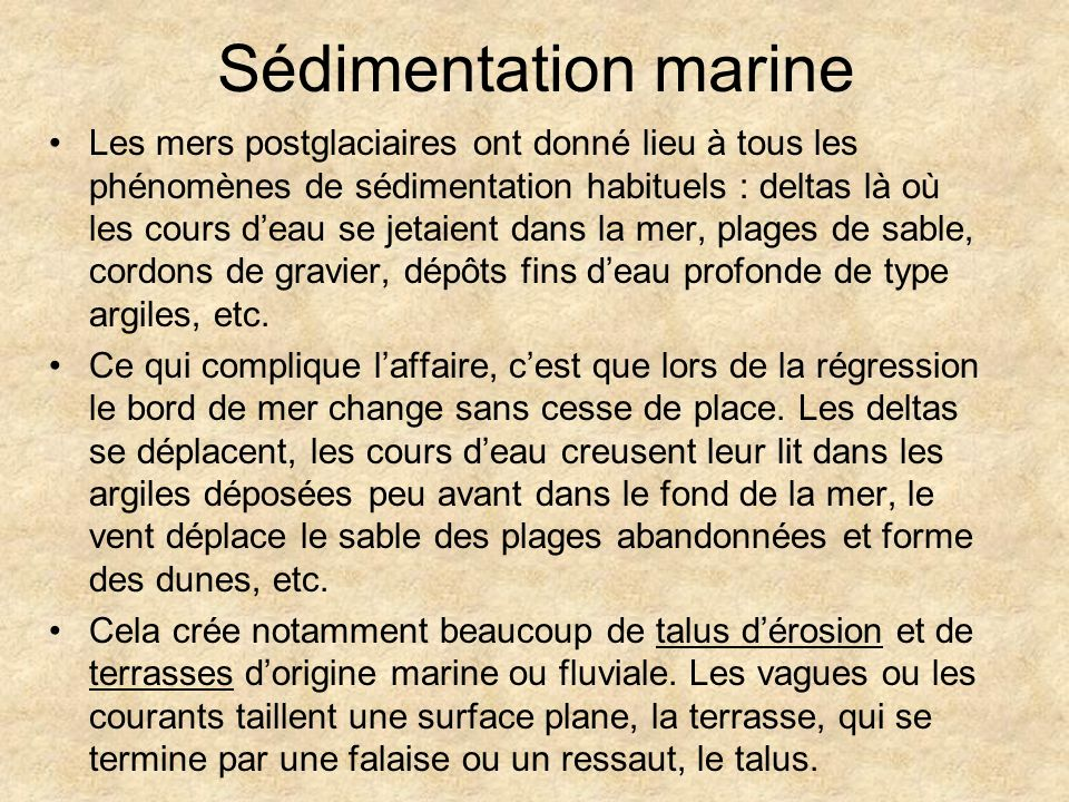 Sédimentation marine