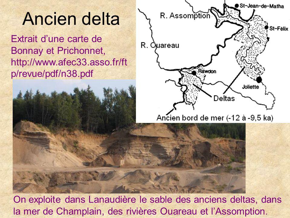 Ancien delta Extrait d'une carte de Bonnay et Prichonnet, http://www.afec33.asso.fr/ftp/revue/pdf/n38.pdf.