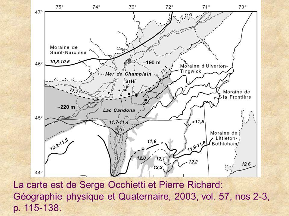La carte est de Serge Occhietti et Pierre Richard: Géographie physique et Quaternaire, 2003, vol.