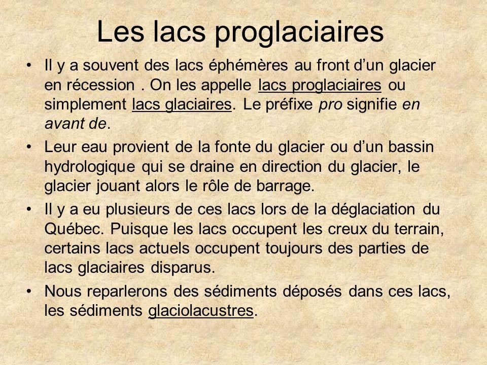 Les lacs proglaciaires