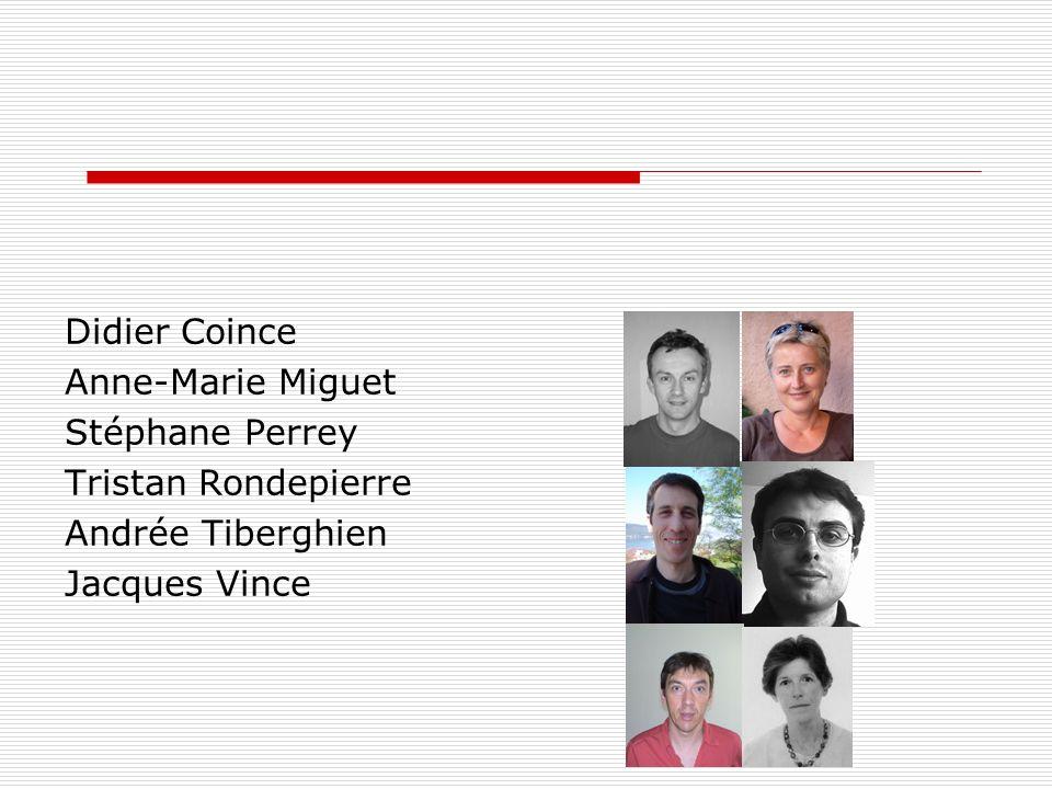 Didier Coince Anne-Marie Miguet Stéphane Perrey Tristan Rondepierre