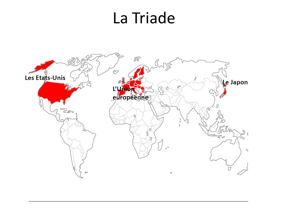La Triade Les Etats-Unis Le Japon L'Union européenne