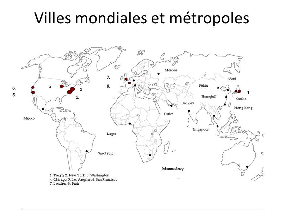 Villes mondiales et métropoles