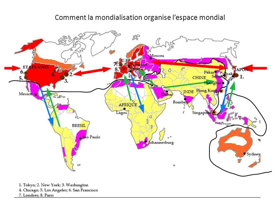 Comment la mondialisation organise l'espace mondial