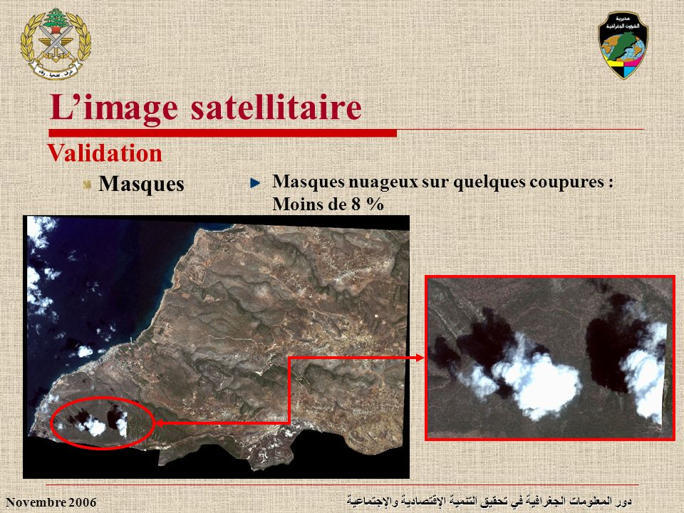 L'image satellitaire Validation