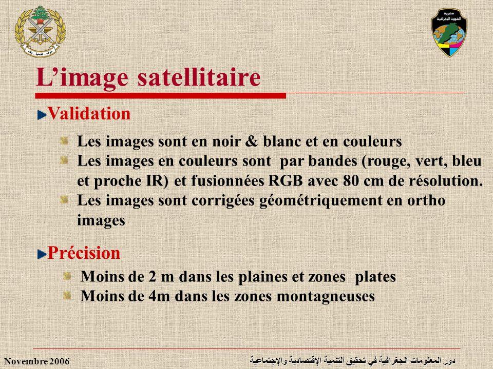 L'image satellitaire Validation Précision