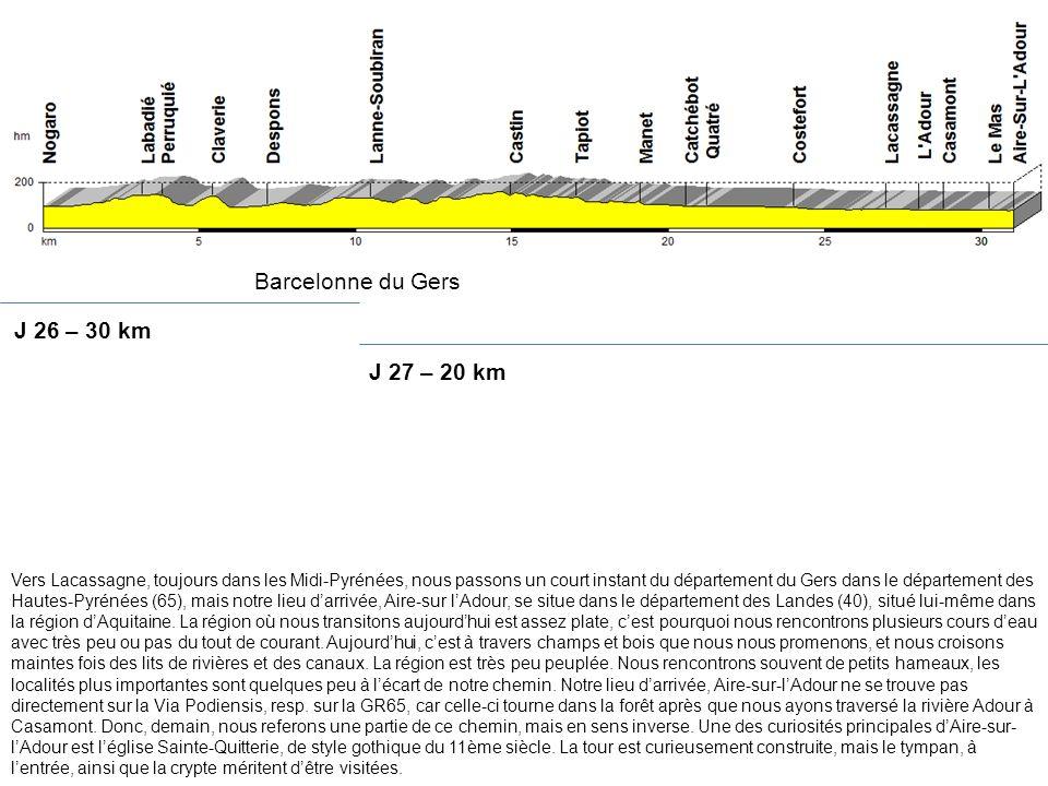 Barcelonne du Gers J 26 – 30 km J 27 – 20 km