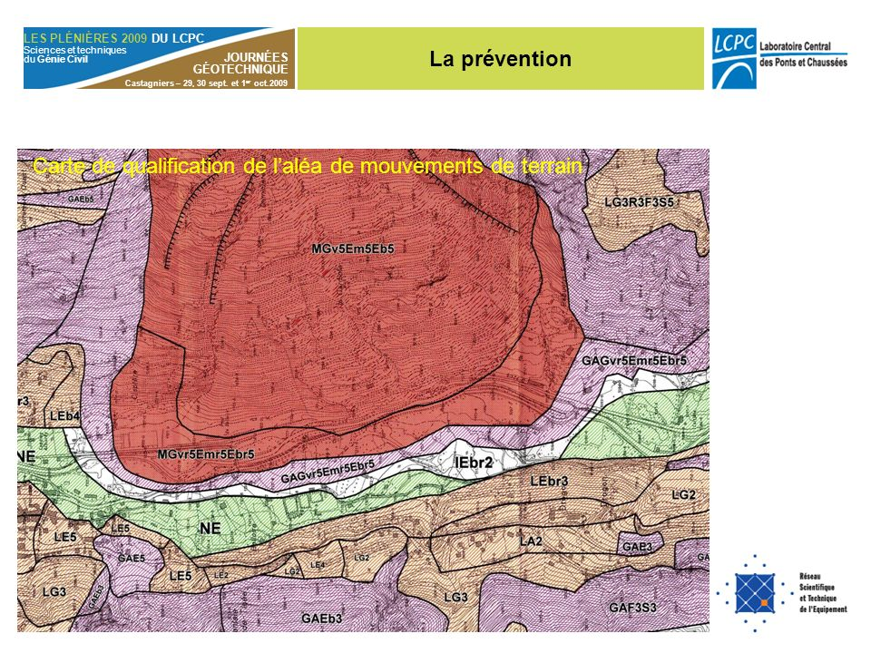 Carte de qualification de l'aléa de mouvements de terrain