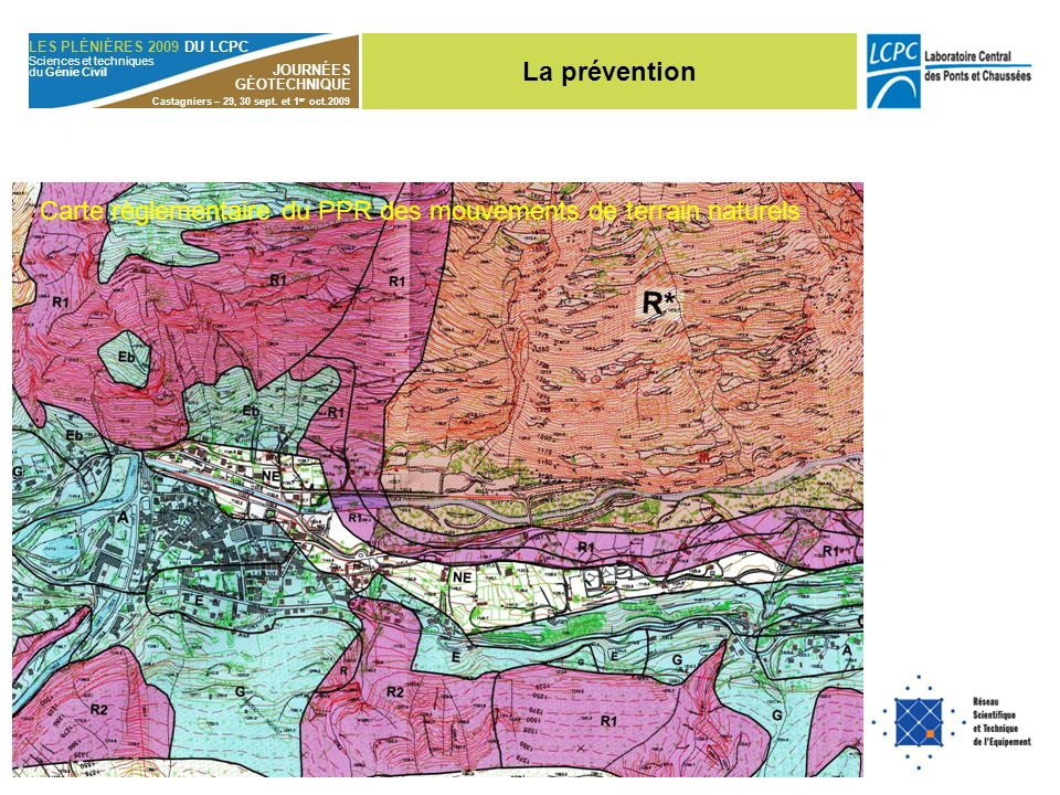 Carte règlementaire du PPR des mouvements de terrain naturels