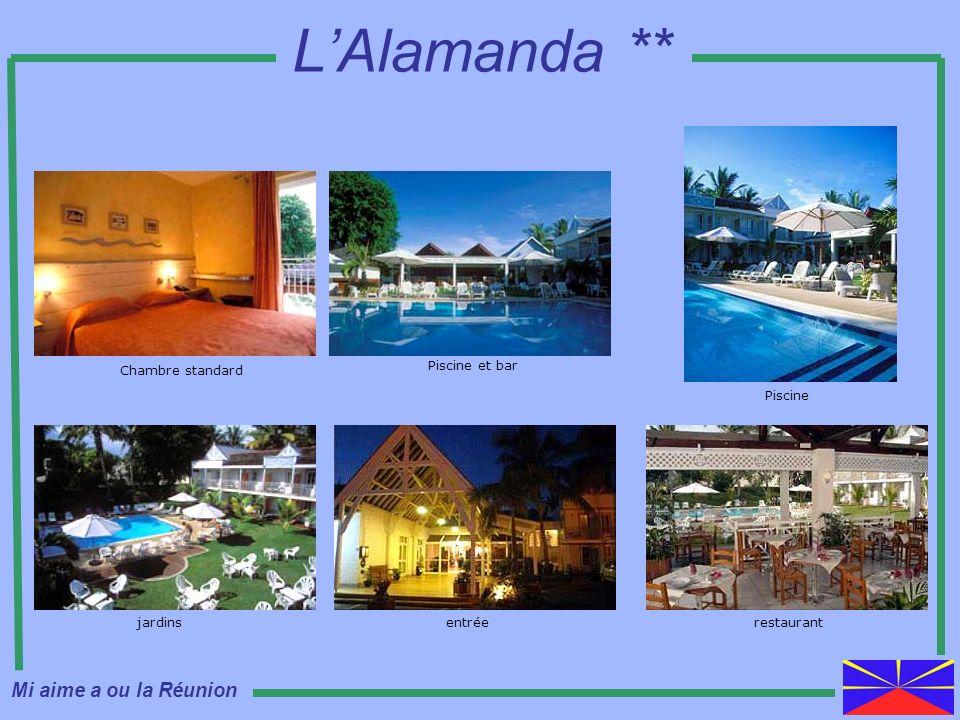 L'Alamanda ** Mi aime a ou la Réunion Chambre standard Piscine et bar